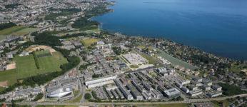Vue aerienne sur le Campus de l'EPFL et ses environs