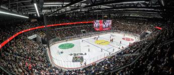 Match du Lausanne Hockey Club (LHC) a la Vaudoise arena.